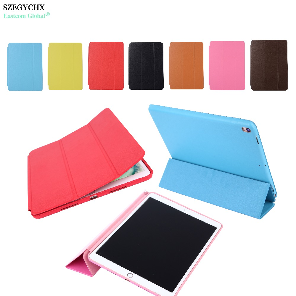 SZEGYCHX Original 1:1 Magnetic Smart Stand Flip Cover Leather Cases for iPad Pro 10.5 A1701 A1709 2017 Tablet Case With Logo free shipping new 10 1 original stand magnetic leather case cover for lenovo ibm thinkpad 10 tablet pc with sleep function