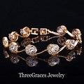 CZ luxo Diamante Sintético Jóias Lua Forma Banhado A Ouro Clear White Cubic Zirconia Mulheres Pulseiras Para O Casamento BR065