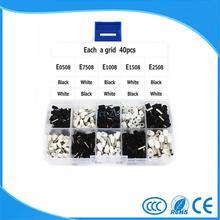 E0508 E7508 E1008 E1508 E2508 White and Black Insulated Copper Crimp Connector 400pcs Kit Box