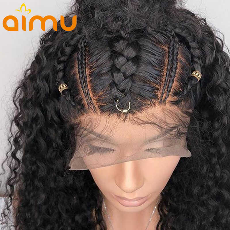Wet And Wavy Lace Front Human Hair Wigs For Women Water Wave Virgin Hair Lace Wigs Kinky Curly Wig Brazilian 360 Lace Front Wigs