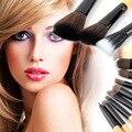 2016 de Alta Calidad Al Por Mayor Nueva 12 UNIDS Pro Pinceles de Maquillaje Cepillo Conjunto de Herramientas Cosmética Leopard Bolsa Belleza