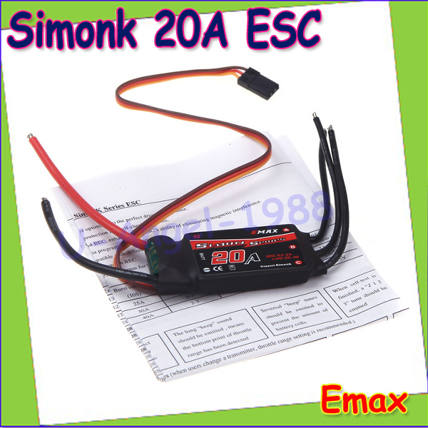 1pcs EMAX 20A SimonK ESC Brushless ESC for QAV250 Quadcopter Multicopter Wholesale Drop freeship