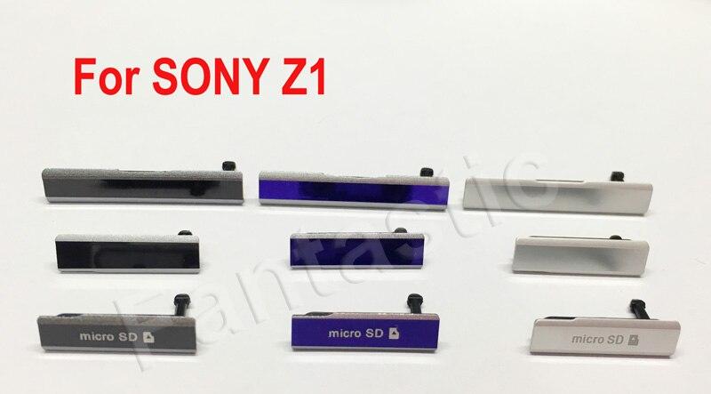 Для Sony Z1 зарядка через USB Порты и разъёмы Защита от пыли Обложка + Micro SD Порты и разъёмы + сим-карты Порты и разъёмы заглушку слота для Sony Xperia l39H ...