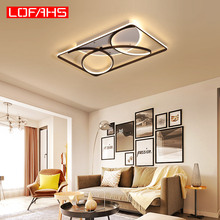 купить LOFAHS Post modern led ceiling light for Living Room bedroom deco ceiling lamp Home office Dome lighting luminaria de teto по цене 5840.97 рублей