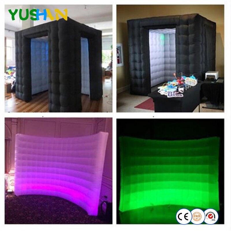 Изготовленный на заказ 2 шт надувные стенки фото павильона палатки фотобудки оболочки и светодиодный надувной стены фон рента для вечерино