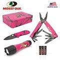 MOSSY OAK 3 шт., многофункциональный складной карманный нож, многофункциональные плоскогубцы и светодиодный фонарик для кемпинга, набор ручных ...
