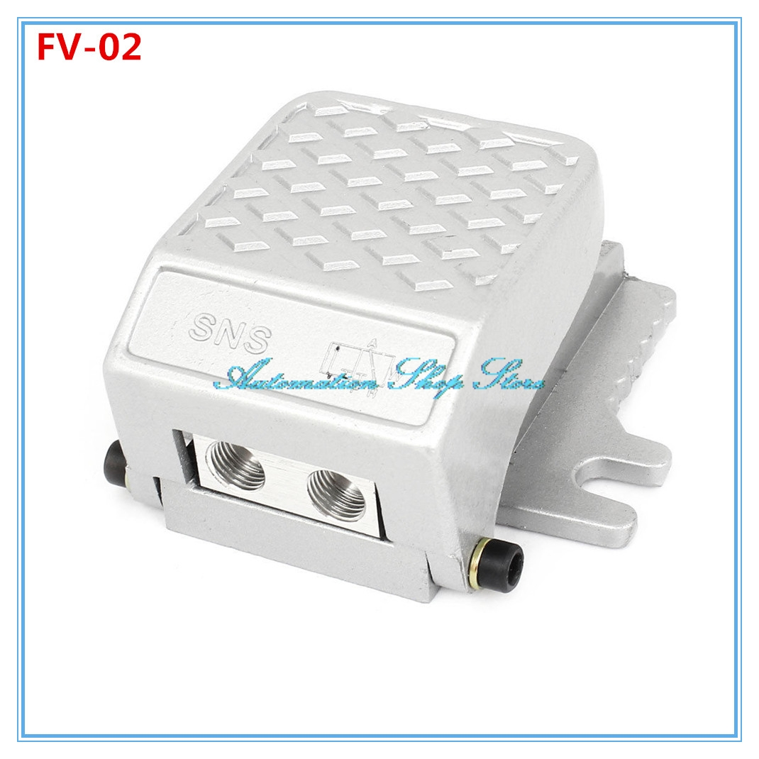 FV-02 Pneumatic Pedal Air Threaded Accessories Mechanical Industrial Foot Switch Pedal Switch