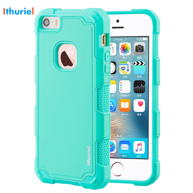 finest selection a2d71 b7919 Ithuriel Cover For iPhone SE 5 5s Case bumper TPU Anti Scratch back panel  Shockproof slim thin Case For Apple iPhone 5 5S SE new-in Phone Bumper from  ...