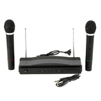 Dual Professional Wireless Microphone with Receiver for BM 800 Karaoke Microphone Party KTV Studio GDeals
