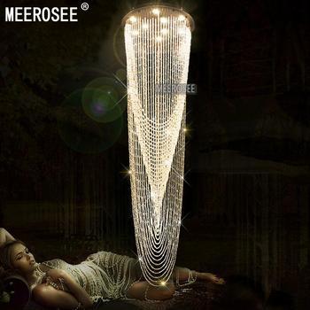 Hedendaagse Stair Plafond Lichtpunt Interieur Decoratie Clear Crystal Plafondlamp voor Hotel Lamp Lustre MD2201