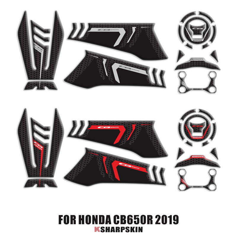 3D Gas Cap Tank Pad Protection Sticker Decal For HONDA CB650R CB 650R 2019
