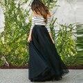 Черный Тюль Длинные Юбки Высокой Талией Saias Лонга Женщин Онлайн Тюль Юбка Мода saias faldas mujer femininas формальное сшитое