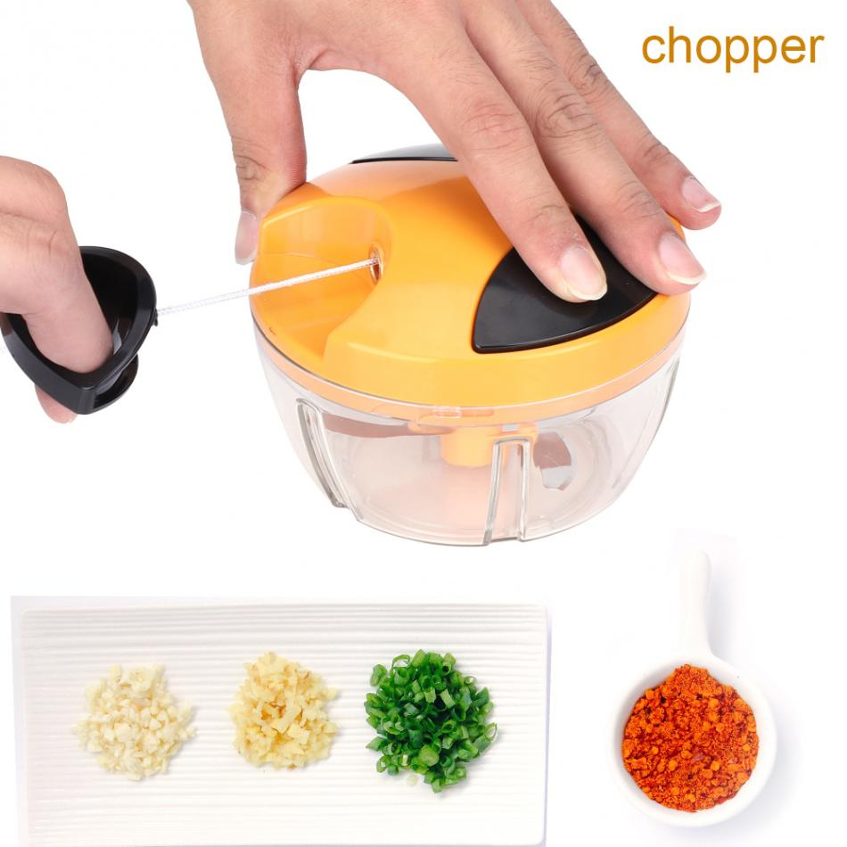 Kitchen 520ml multi function cutting device Mixing and cutting device Pulling rope and hand twisting device