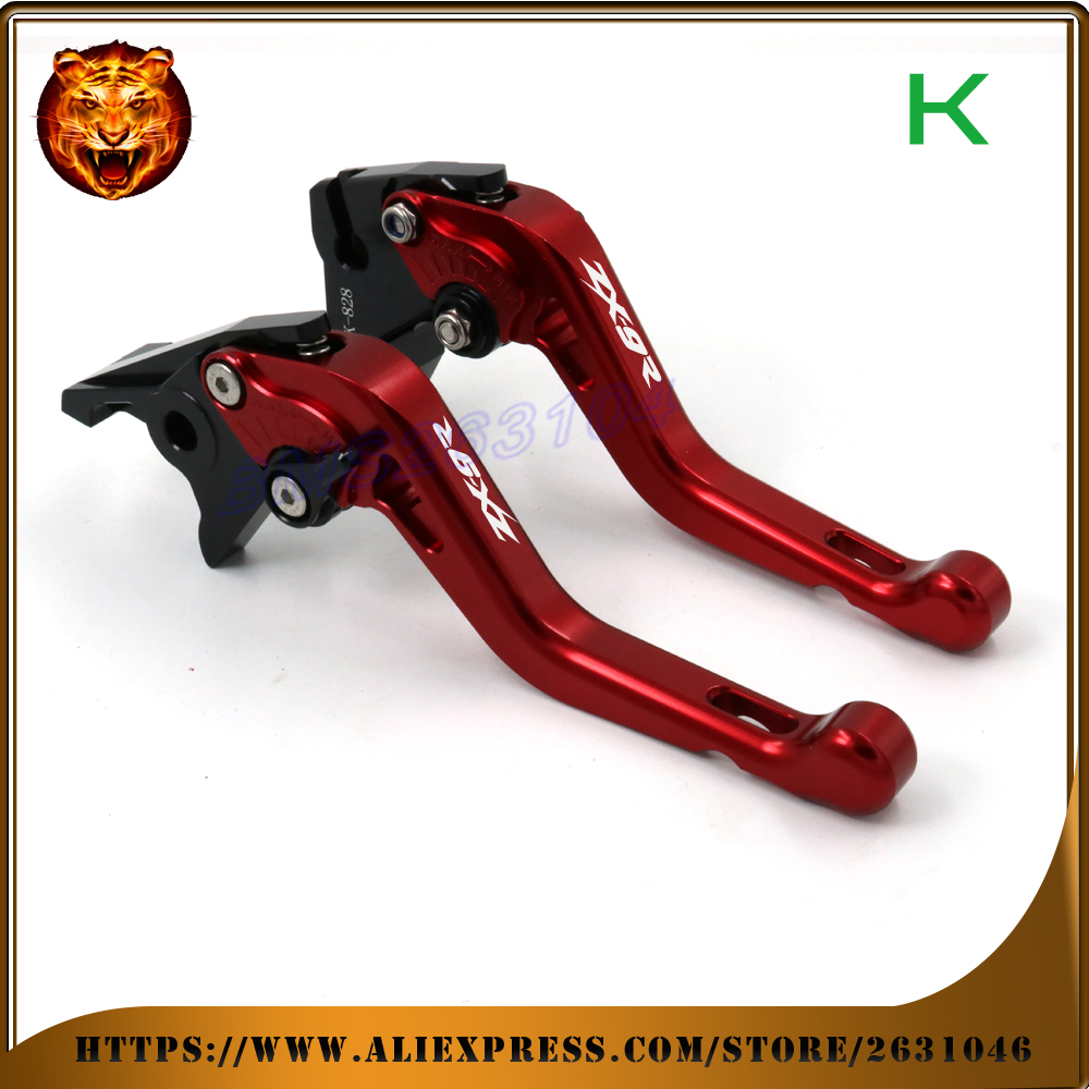 Adjustable Short Brake Clutch Levers For kawasaki ZX9R ZX-9R 2000 01 02 03  FREE SHIPPING BLUE GREEN Motorcycle Accessories motorcycle accessories adjustable brake clutch levers for kawasaki zx10r zx 10r 2004 2005 free shipping