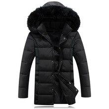 Big Fur Collar Winter Jacket Men Big Size Thickening Warm Parkas Men's Hooded Casual Jacket Brand Coat Free Shipping