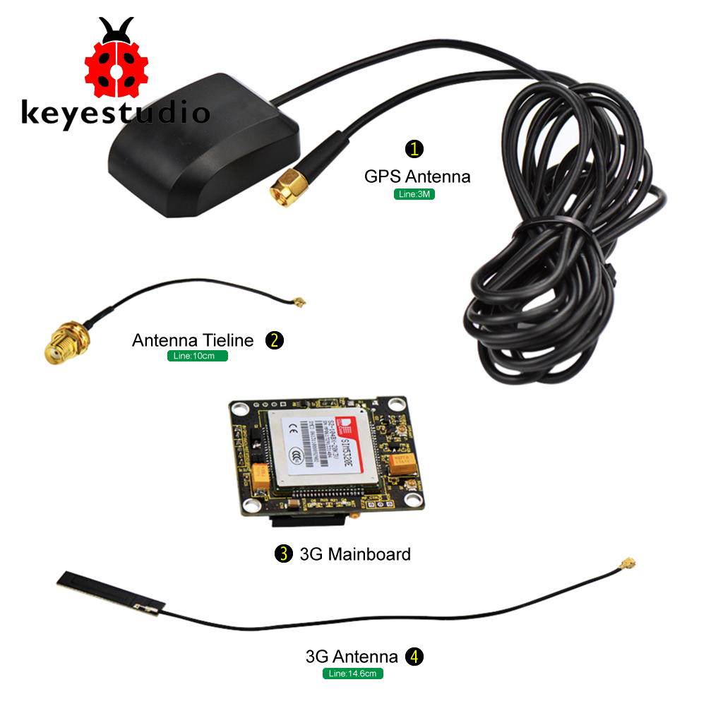 Keyestudio SIM5320E 3g модуль GSM/GPRS gps модули для Arduino 51 AVR MCU