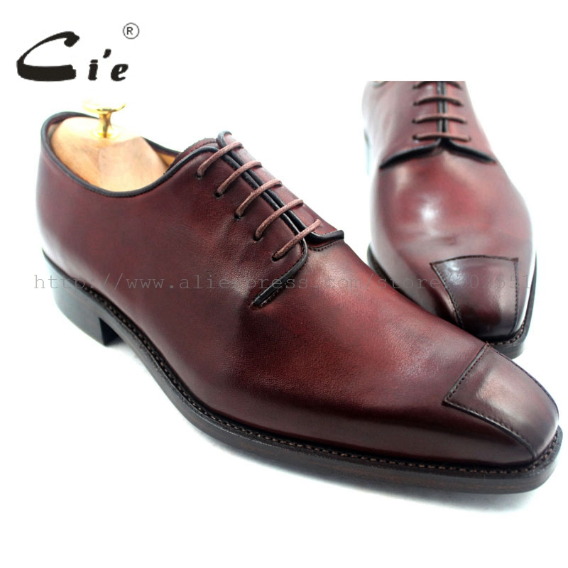 cie high quality goodyear welted handmade pure genuine calf leather outsole men's dress/classic derby color brown shoe No.D62 полироль пластика goodyear атлантическая свежесть матовый аэрозоль 400 мл