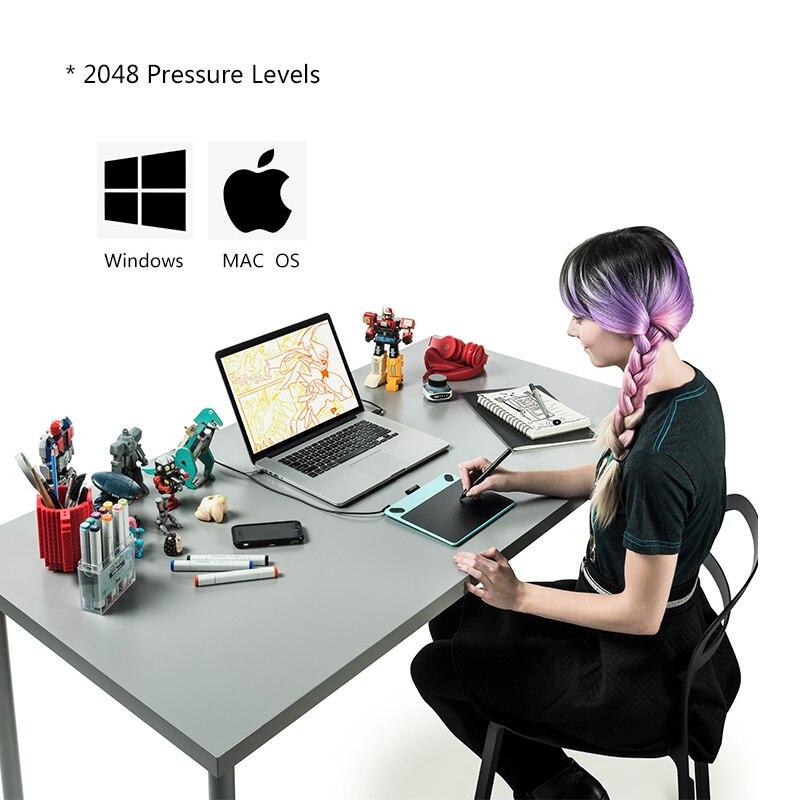 Wacom Intuos Tirage CTL-490 tablette graphique Numérique Comprimés tablette de dessin 2048 Niveaux de Pression + cadeau gratuit Pack + 1 Année Garantie - 5