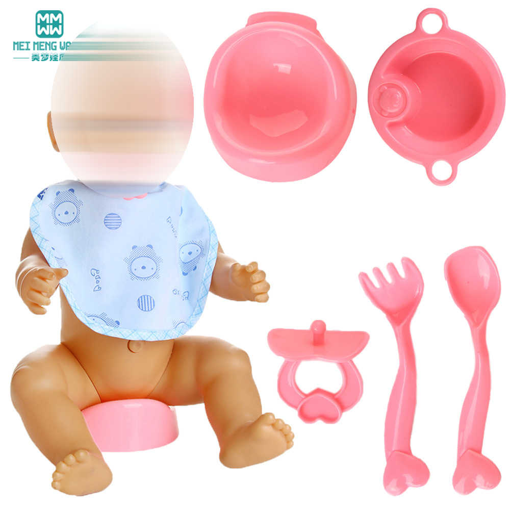 Детская Одежда для куклы fit 43 см новорожденных интимные аксессуары и Американский Кукла для игры в дочки-матери игрушка бутылки молока + вилки соски обеденная тарелка