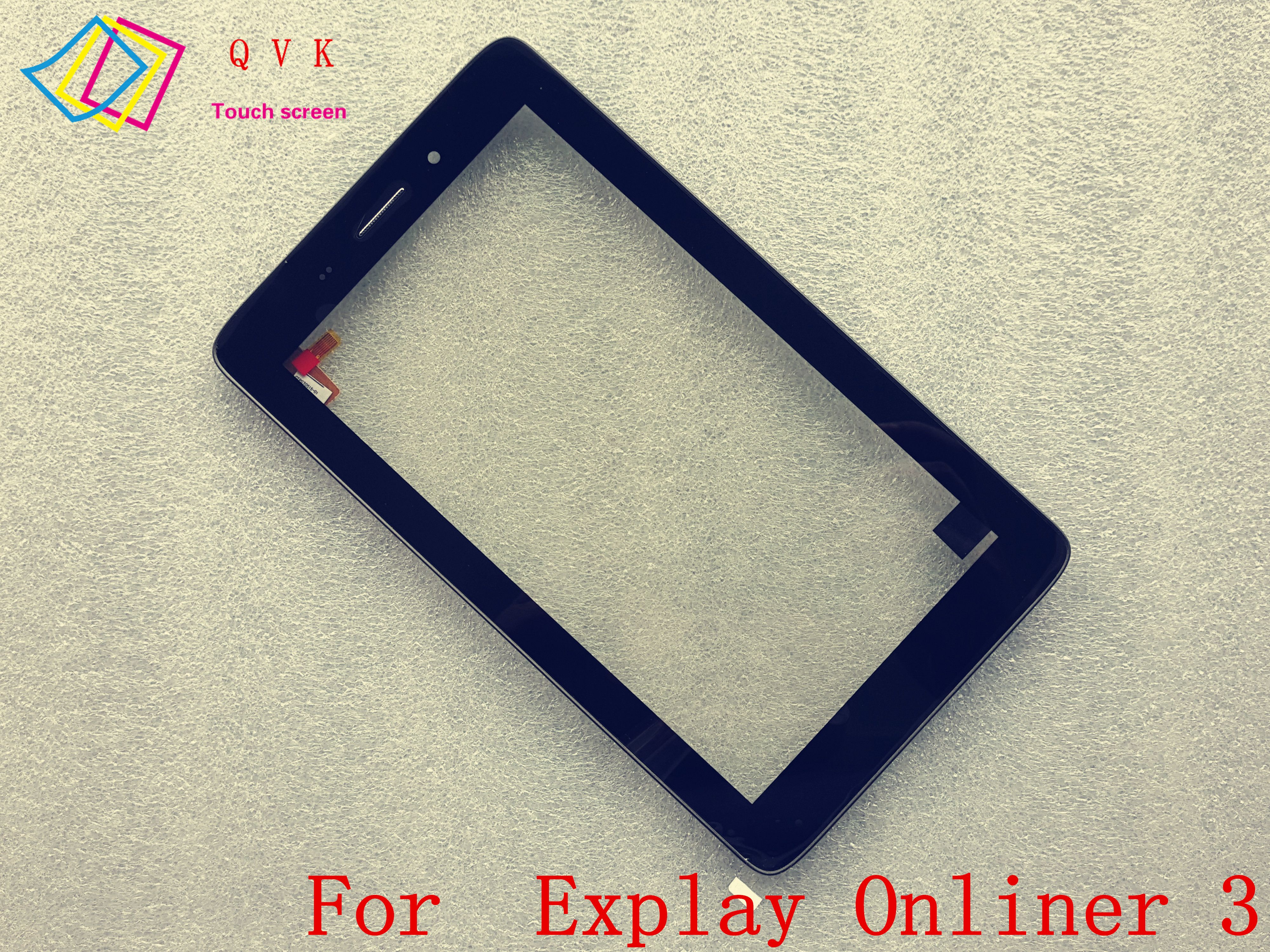 Black with Frame  7inch for Explay Onliner 3 tablet pc capacitive touch screen glass digitizer panel|Tablet LCDs & Panels| |  - title=