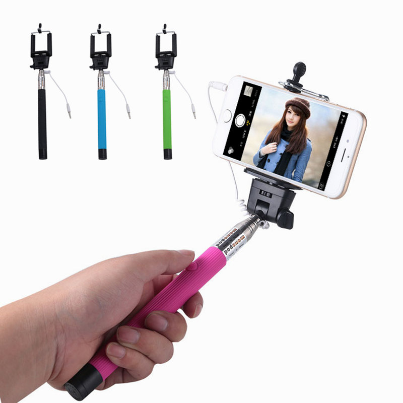 high grade quality senior aluminum self selfie stick for iphone samsung phone. Black Bedroom Furniture Sets. Home Design Ideas