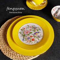 Teller Abendessen Knochen China Kreative Platte Blume Platte 8 zoll 10 zoll Keramik Fisch Platten Japanischen Runden Teller|Geschirr & Platten|Heim und Garten -