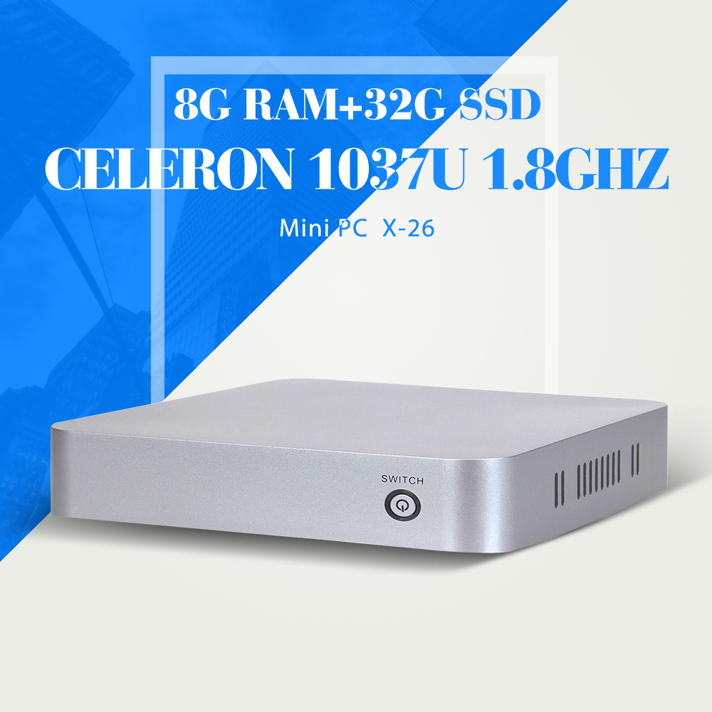 XCY C1037U  Mini PC Computer 8G RAM 32G SSD With wifi industrial pc case Mini Desktop PC branded computer case xcy mini pc 3805u computador barebone pc laptop case computer cable mini pc window 7 8 8 1 xp linux system