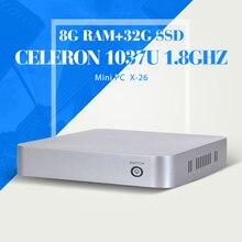Xcy C1037U компьютер 8 г оперативной памяти 32 г SSD с wi-fi промышленных пк чехол мини настольных пк фирменных компьютерный чехол