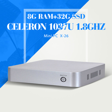 XCY C1037U Mini PC Computer 8G RAM 32G SSD With wifi industrial pc case Mini Desktop PC branded computer case