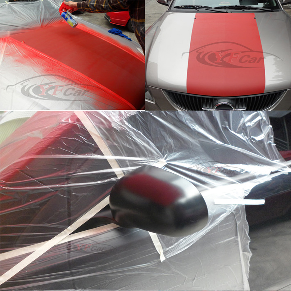 Image 5 - 0.55mx30m/Roll PVC Cover Sheet Clear Automotive Paint Plasti Dip Spray Rubber Paint Dust Protection Masking Film MO 106P-in Car Stickers from Automobiles & Motorcycles