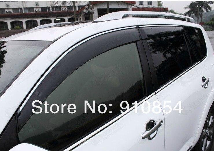 For TOYOTA RAV4 RAV 4 XA40 2013 2014 Side Door Window Visor Vent Sun Rain Guard Shield Delflector for ford explorer sport 2013 2014 2015 2016 2017 abs plastic window visors awnings rain sun deflector visor guard vent cover