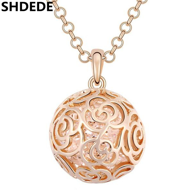 Crystal ball long necklaces pendants chains high quality famous crystal ball long necklaces pendants chains high quality famous brand jewelry sweater chain necklace champagne color mozeypictures Gallery