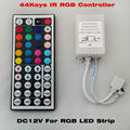 Free shipping 44 Keys LED IR RGB Controler For RGB SMD 3528 5050 LED Strip LED Lights Controller IR Remote Dimmer Input DC12V 6A