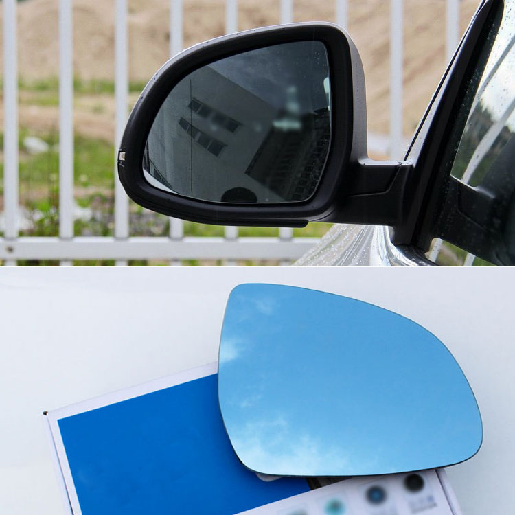 Ipoboo 2pcs New Power Heated w/Turn Signal Side View Mirror Blue Glasses For BMW X3/X4/X5/X6