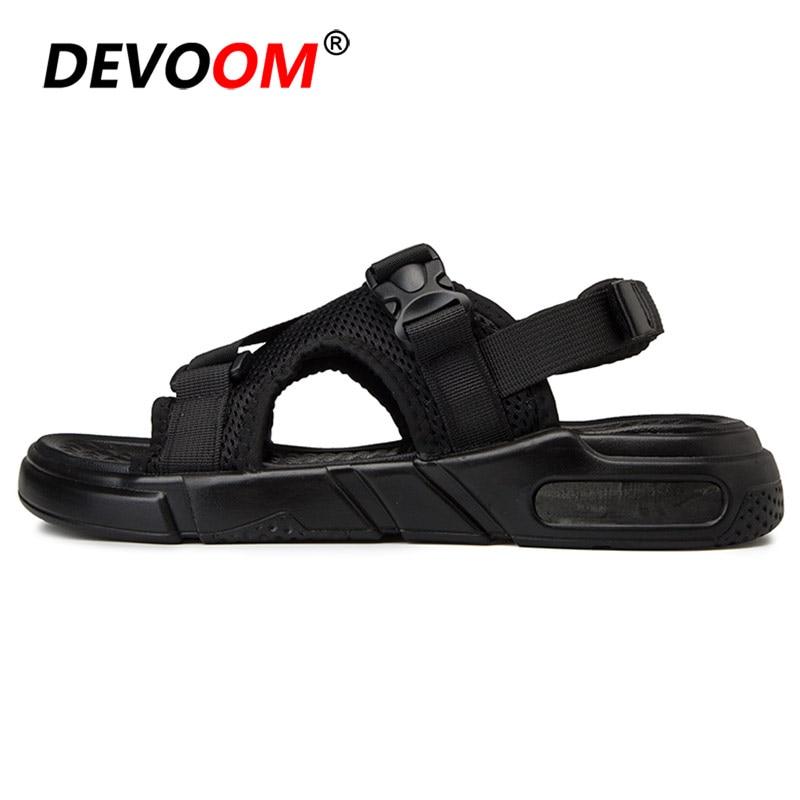 Black Homme De Casuais Leve Venda Sapatos Dos 44 Moda Sandale Mens Calçados Para Homens 2019 White Masculinos Sandálias Quente Verão Os Praia Da 1axnnP8