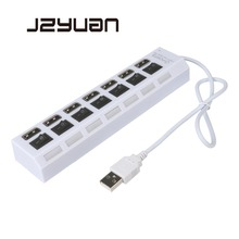 JZYuan 4/7 Ports High Speed USB Hub 2.0 480Mbps Hub On/Off Switch Portable USB Splitter Peripherals Accessories For Computer jzyuan multi 7 port usb hub 2 0 adapter high speed 7 ports hub usb on off switch portable usb splitter for pc computer laptop