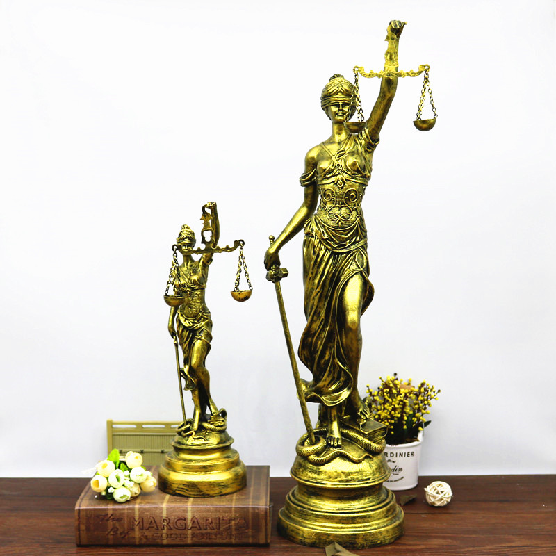 Greek Mythology Lady Justice Themis European Style Figure Statue Retro Resin Art Craft Home Furnishing Articles G1444 greek mythology goddess aphrodite figurine hephaistos gypsum statue resin art