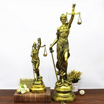 Greek Mythology Lady Justice Themis European Style Figure Statue Retro Resin Art Craft Home Furnishing Articles G1444