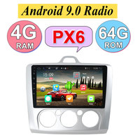 4G RAM+64G Android 9.0 Car Radio Multimedia Player For Ford Focus Mk2 Mk3 2004 2005 2006 2007 2008 2009 2010 2011 GPS Navigation