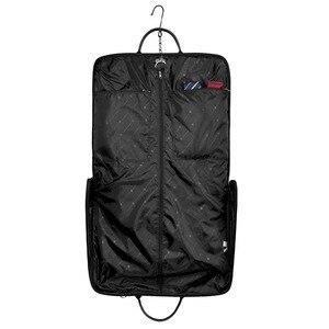 Image 3 - BAGSMART Waterproof Black Nylon Garment Bag With Handle Lightweight Suit Bag Business Men Travel Bags For Suits