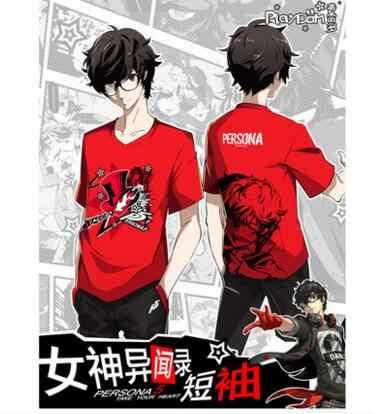 High-Q Unisex Anime Persona5 P5 Ren Amamiya T-Shirt T Shirt Persona 5 P5  Akira Kurusu T-Shirt T Shirt Tee