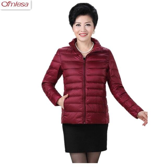 90ae704364342 OMLESA 2017 Plus Size Winter Jacket Women White Duck Down Parkas Hot Sale  Fashion Short Light Thin Down Jacket 413