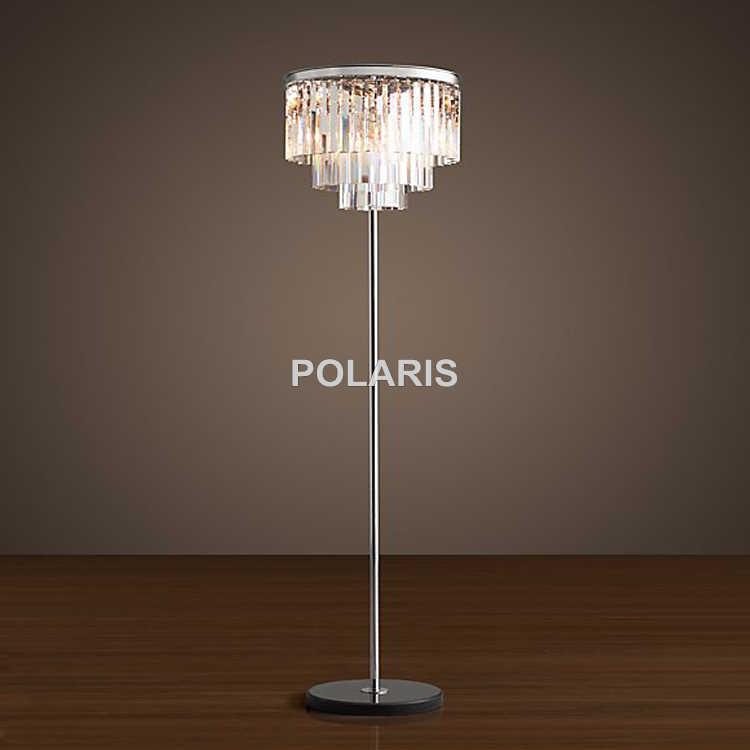 Фабричный выход современный винтажный торшер с кристаллами свет Домашнее освещение украшение сделано Polaris освещение