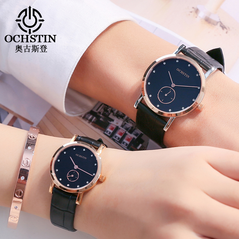Lovers Watch Women Top Brand OCHSTIN Luxury Fashion Watch Men Ultra Thin Gold Mesh Business Watches Casual Dress Quartz Watch luxury men s women quartz watch business watch men women watch