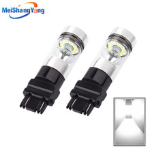 2pcs Car LED Brake Lights T25 3156 3157 20-SMD 3030 Chip Super Bright 6000K Fog Turn Tail Lamp Bulb Light White 100W High power