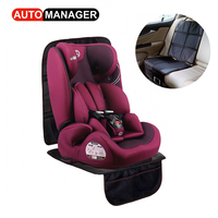 Pu Leather Black Car Seat Protector Mat Auto Child Baby Car Seat Cover Protection Cushion For