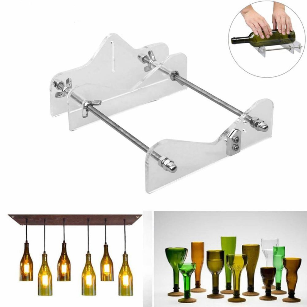Glass Bottle Cutter Tool Professional For Bottles Cutting Glass Bottle-Cutter DIY Cut Tools Machine Wine Beer Bottle Cutter evanx glass cutter roller type diamond for 3 12mm oil filled glass bottle cutter construction hand tools 1pc