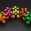 Nova Z espelho Cubo Cube enigma 3 x 3 x 3 muitas cores brilhantes torção enigma Cubo mágico criança adultos quebra-cabeça brinquedo educativo