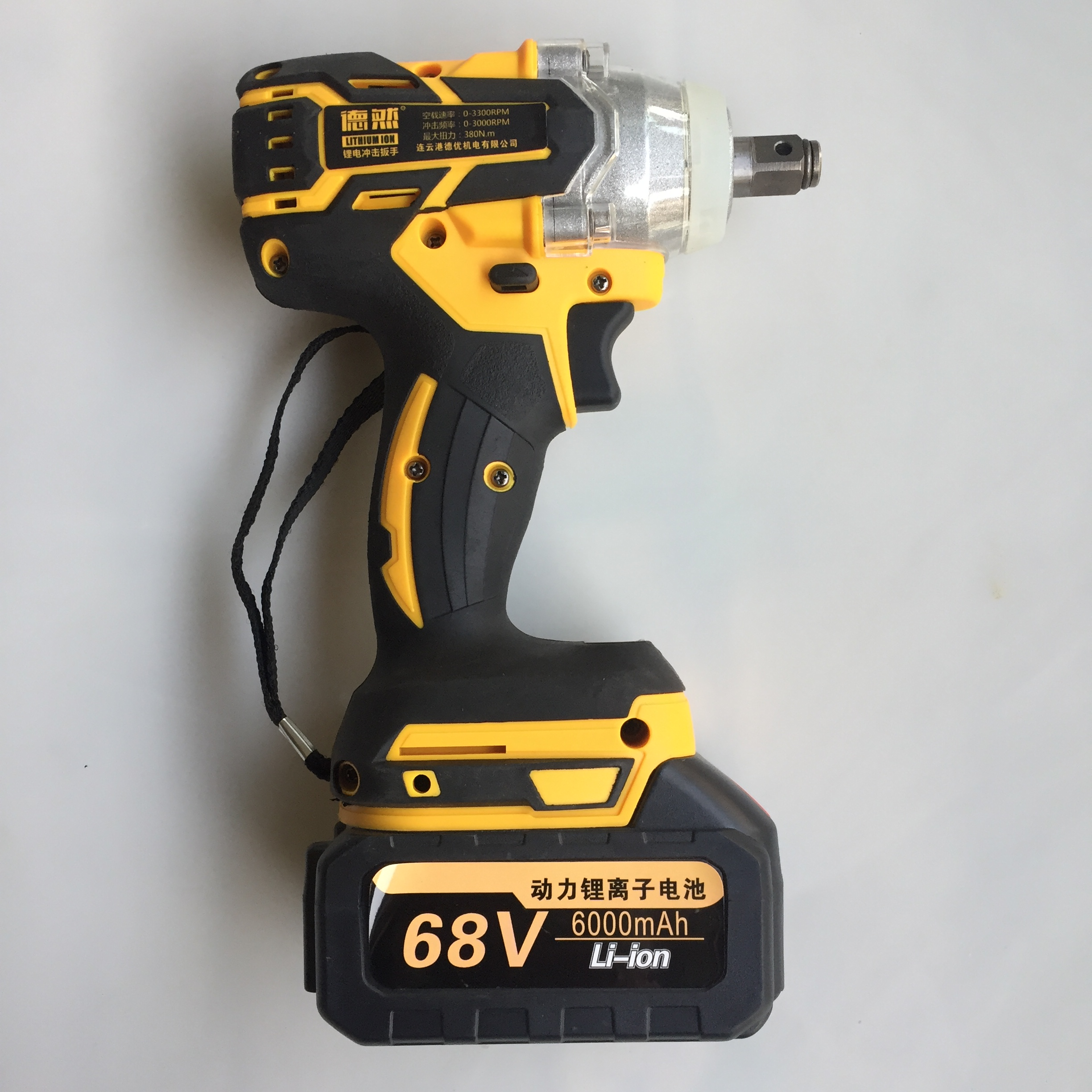 Brushless Cordless Electric Wrench Impact Socket Wrench 380N/M 6000mAh Li Battery Hand Drill Installation Power Tools