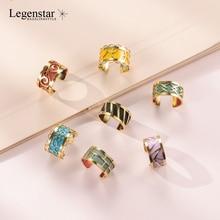 Legenstar New Gold Stainless Steel Open Resizable Rings For Women Creative DIY Reversible Leather Bijoux Ring bague femme 2019